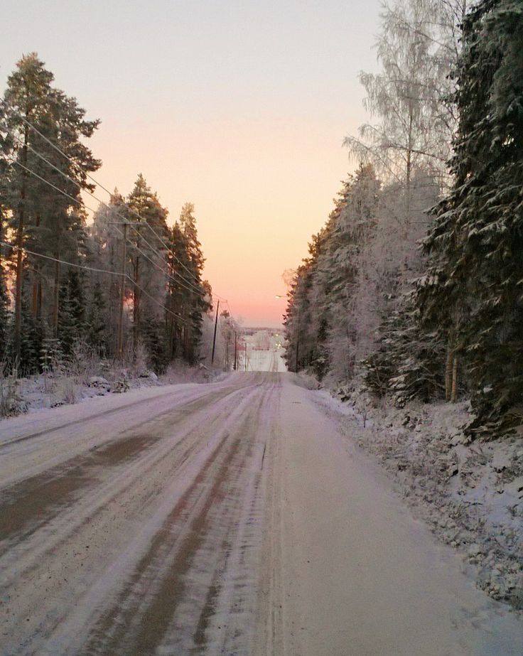 cold winter day in Finland, my childhood home village, January 2014.
