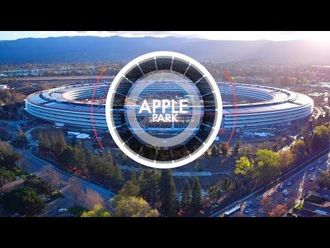 Drone muestra los últimos avances del Apple Park
