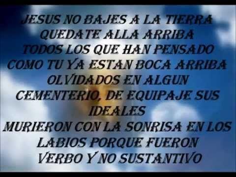 Ricardo arjona-jesus es verbo no sustantivo (letra)