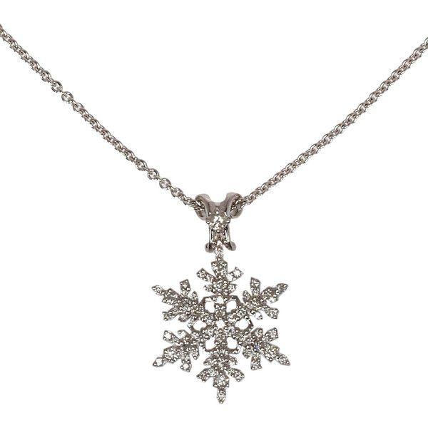 Paul Morelli White Gold Diamond Snowflake Necklace found on Polyvore