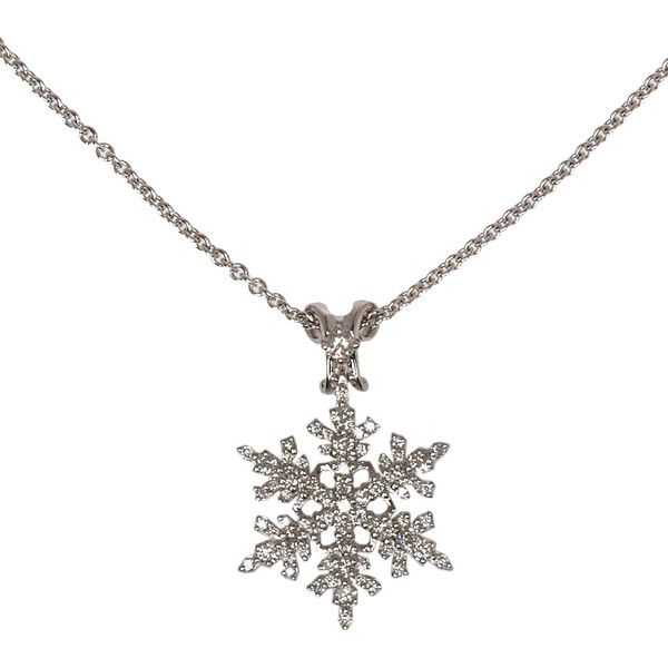 Paul Morelli White Gold Diamond Snowflake Necklace found on Polyvore