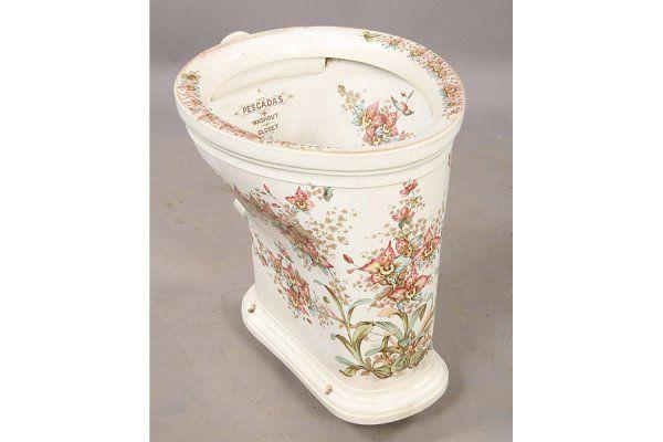 Rare Paint Decorated Porcelain Toilet Royal Victorian Bathrooms Pinterest Toilets Paint