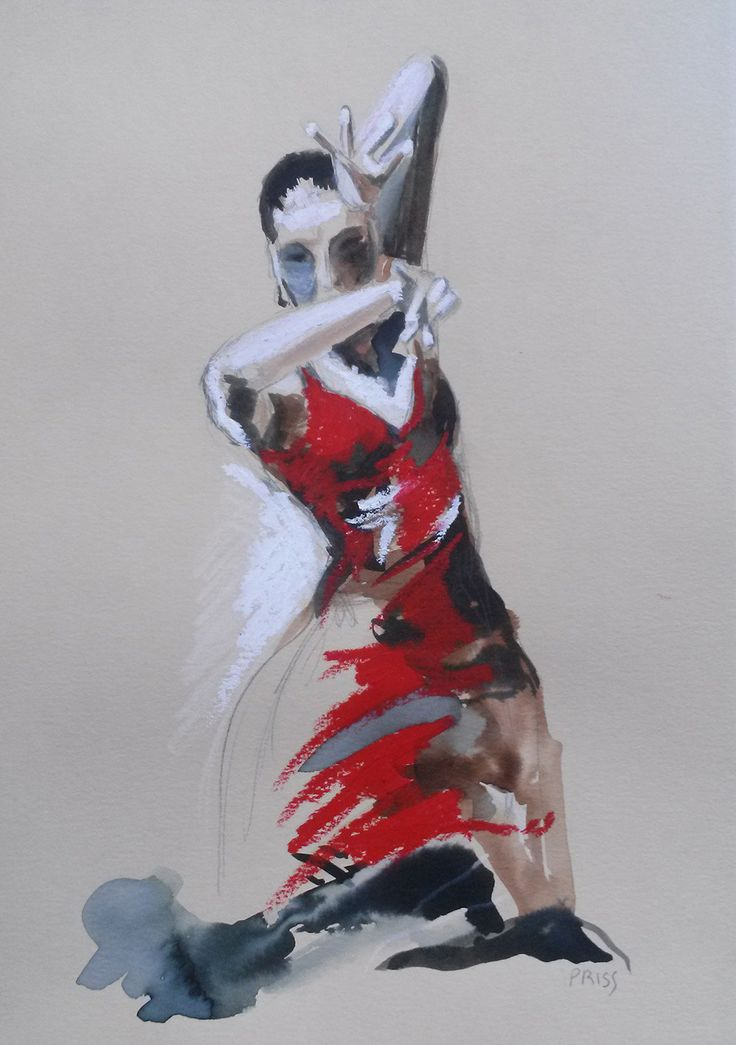 20 best watercolours spain images on pinterest dancing - Dessin danseuse de flamenco ...
