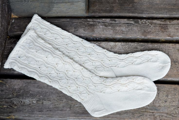 Knitted long wool socks