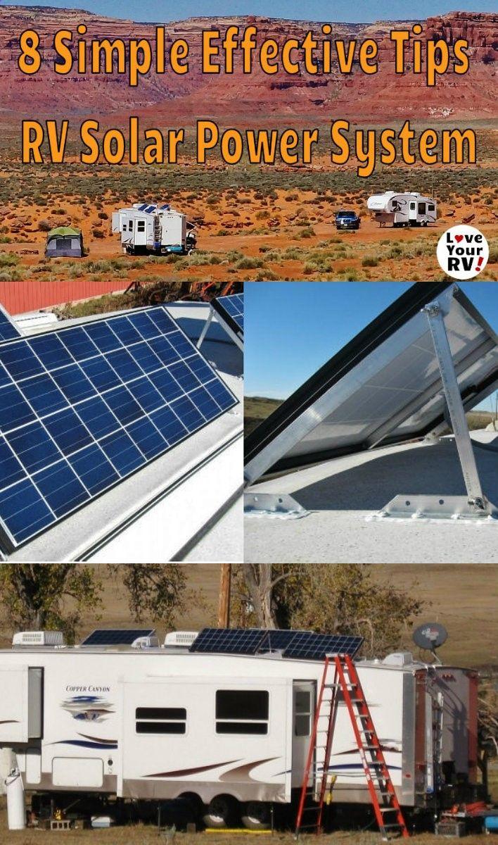 8 Tips for setting up RV solar power - www.loveyourrv.co... #RVing #boondocking #solar