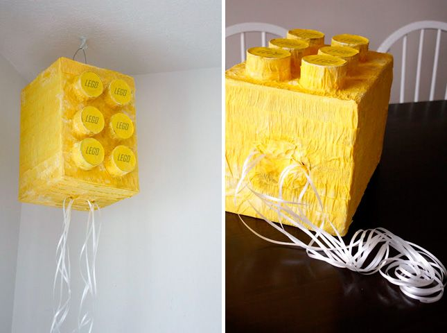 20 Creative Ways to Make a Piñata via Brit + Co.  Noah wants to learn how to make a pinata - check out this Lego one