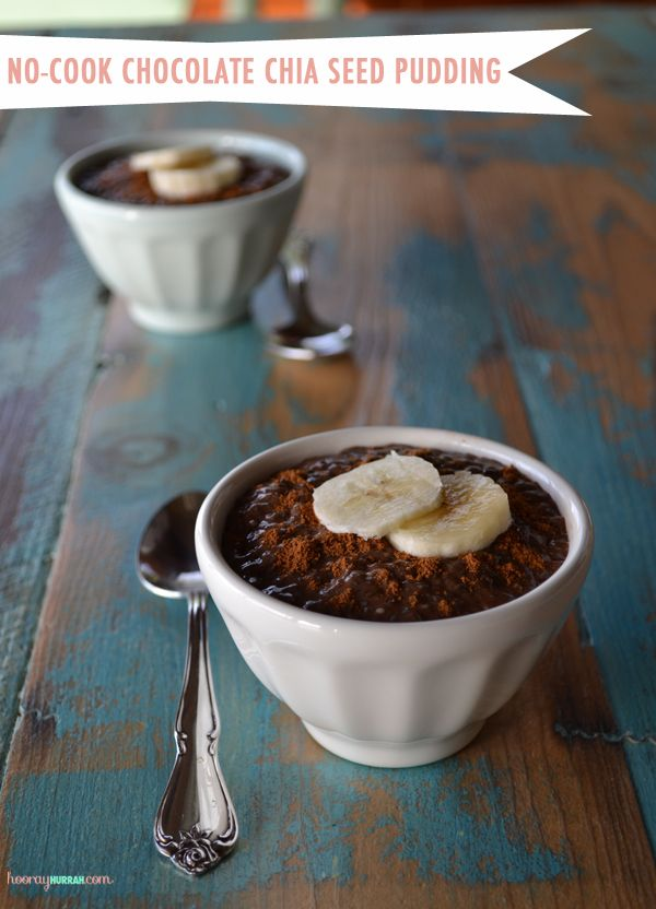 Healthy Chocolate Chia Seed Pudding. Vegan, sugarless, and full of fiber and protein! - Switch Agave to Stevia