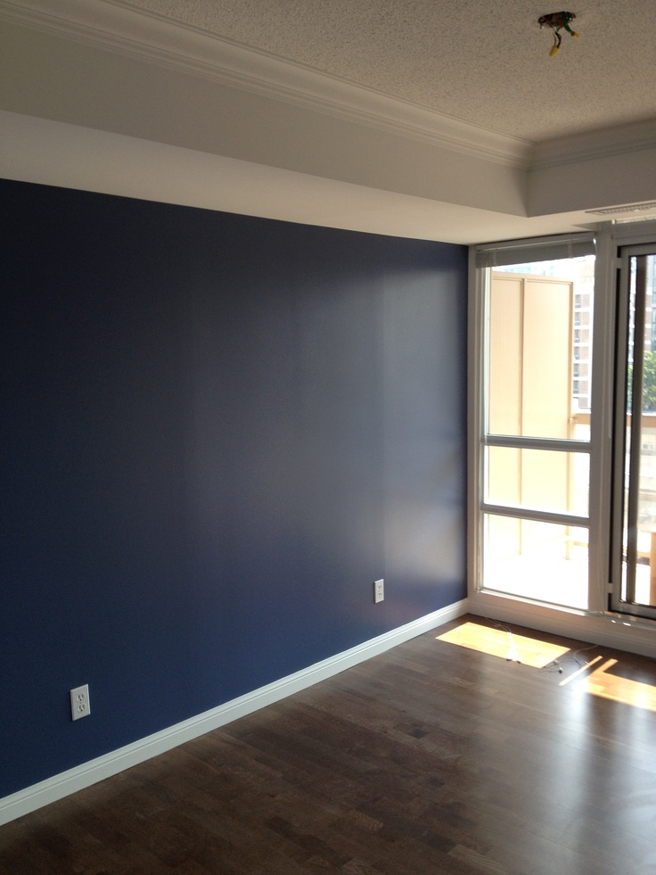 Nice Blue Feature Wall In Toronto My Blank Haus Blue