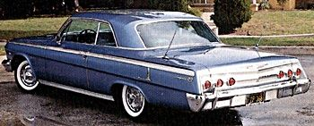 1962 Chevrolet Impala ( I Had one of these as my First Car with out a motor & Transmission I traded it for a Set of old Air Shocks )