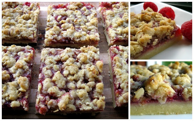 Raspberry Streusel Bars | Deliciousness to Try | Pinterest