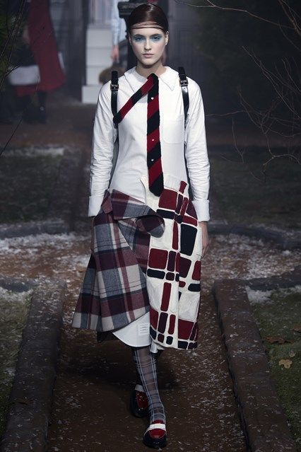Catwalk photos and all the looks from Thom Browne Autumn/Winter 2016-17 Ready-To-Wear New York Fashion Week