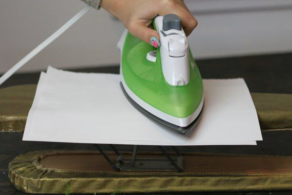 Instructions for Pressing Flowers With An Iron