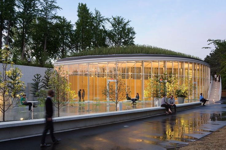 Architects Marion Weiss and Michael Manfredi:  The Brooklyn Botanic Garden's visitor center, opened May 2012