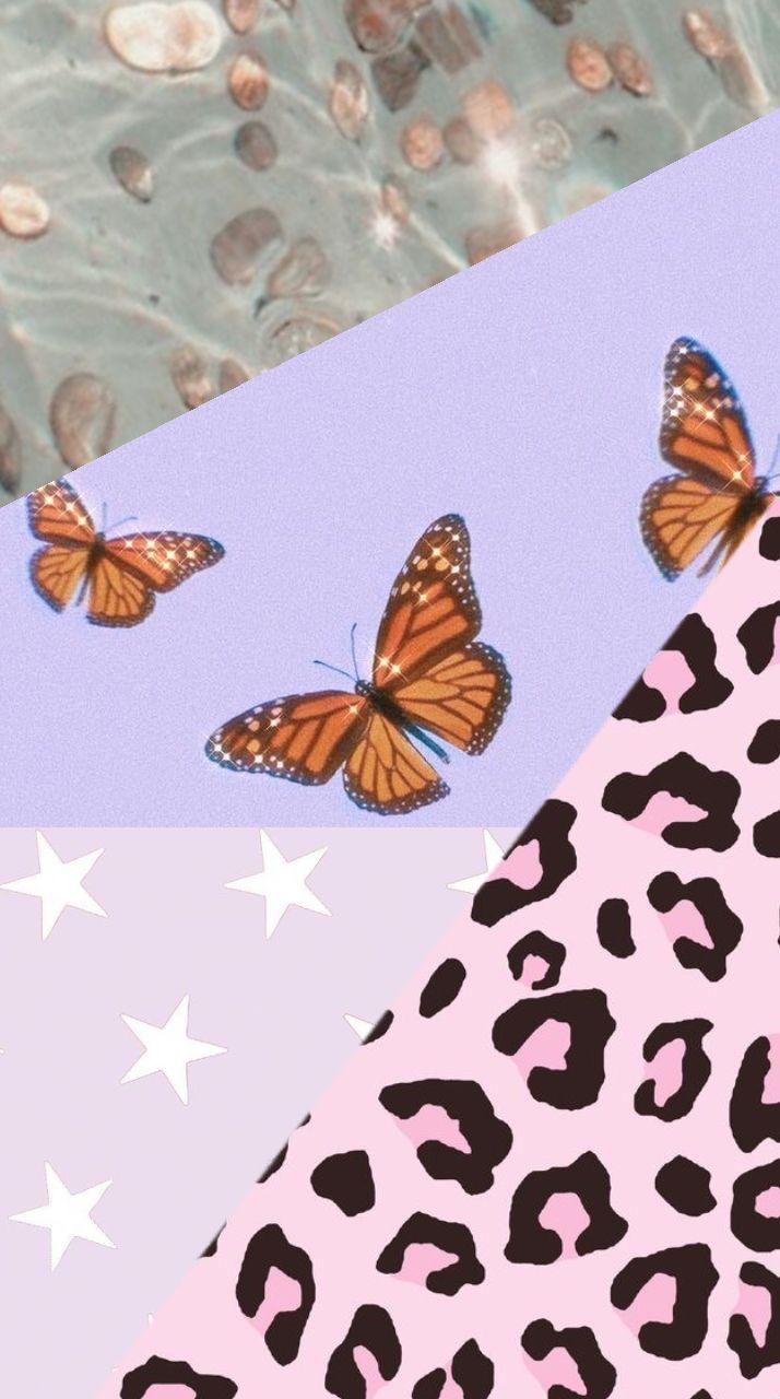 Pink cheetah & purple butterfly Wallpaper 🐆🦋💞 | Aesthetic ...