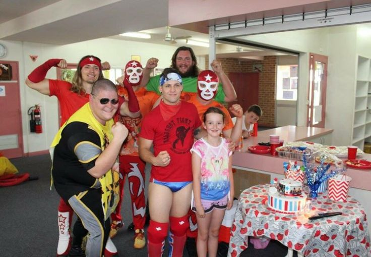 Happy 8th Birthday Stacey we hope you and your friends had a lovely Super Wrestling Heroes Birthday Party! Thanks for letting us be a part of your special day.  Massive thanks to Stacey's favourite Australian Pro Wrestler Robbie Eagles for coming down and getting involved in the action!   To have the Super Wrestling Heroes be a part of your son or daughters next party or celebration visit www.superwrestlingheroes.com.au  ARE YOU READY TO PARTY?! #superwrestlingheroes #stmarys #birthdayparty