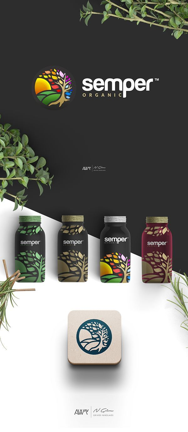 A Colorful Logo Design and four different product designs, for a company that sells organic products all over the world.