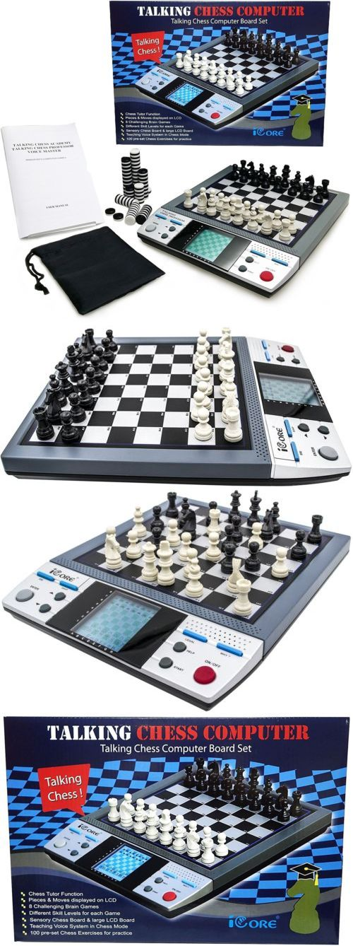 Electronic Chess 155339: Electronic Talking Chess Board Games 8 In 1 Talking Computer Chess Set Kid Adult -> BUY IT NOW ONLY: $54.99 on eBay!