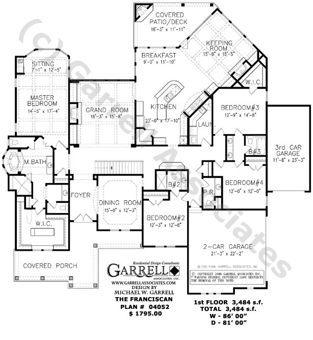 658 best house plans medium to ginormous images on pinterest One Story House Plans In Thailand franciscan house plan floor plan, ranch style house plans, traditional style house plans, one story house plans cs get rid of keeping room and car garage one story house plans in thailand