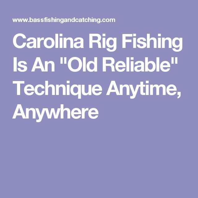 """Carolina Rig Fishing Is An """"Old Reliable"""" Technique Anytime, Anywhere"""