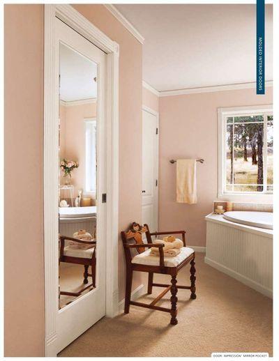 56 best images about bathroom remodel on pinterest for Master bathroom pocket door