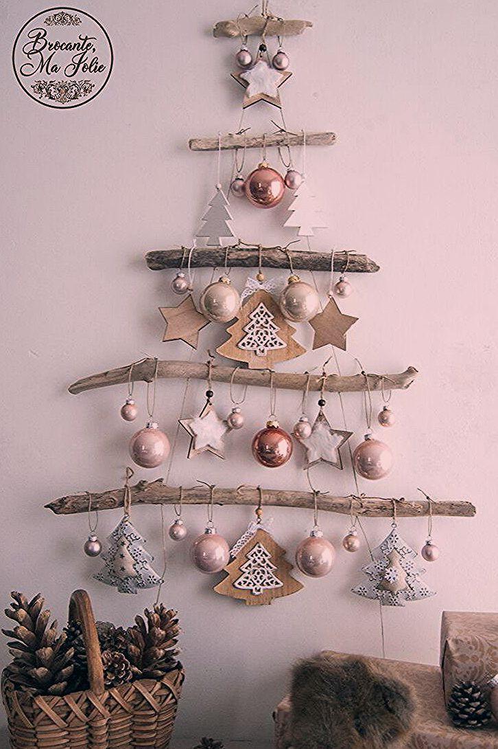 Bois Ce Choisir Donc En Etre Flotte Home Party Outfit La Mural Personnalise Peut Minimalist Christmas Tree Diy Christmas Tree Wall Christmas Tree