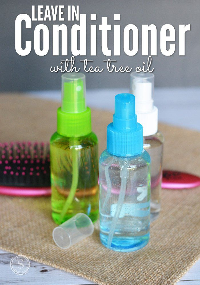 This leave in conditioner with tea tree oil doubles as a safe lice repellent for kids.