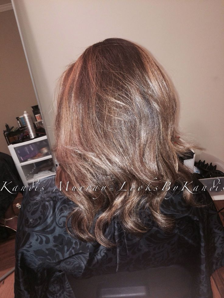 Pictures Of Brown Hair With Blonde Highlights