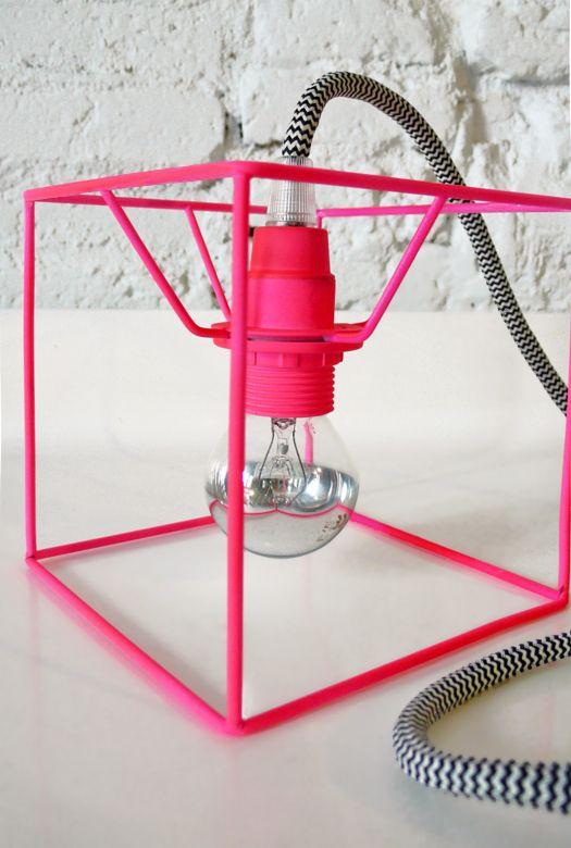 fluorescent pink lamp