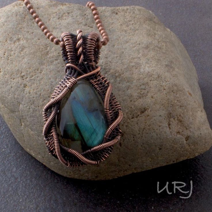 Gorgeous lab in cable weave copper.  OOAK Unique Rabbit Jewellery