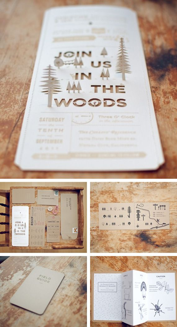 Laser cut invitations