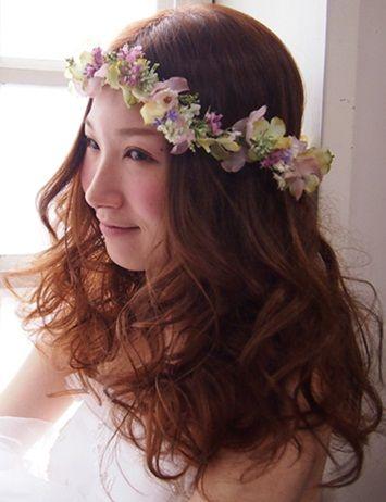 カラフル小花の花冠&リストレットSET【harmonie~アルモニ~】