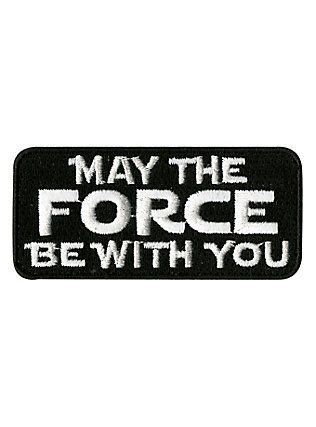 Star Wars May The Force Be With You Iron-On Patch,