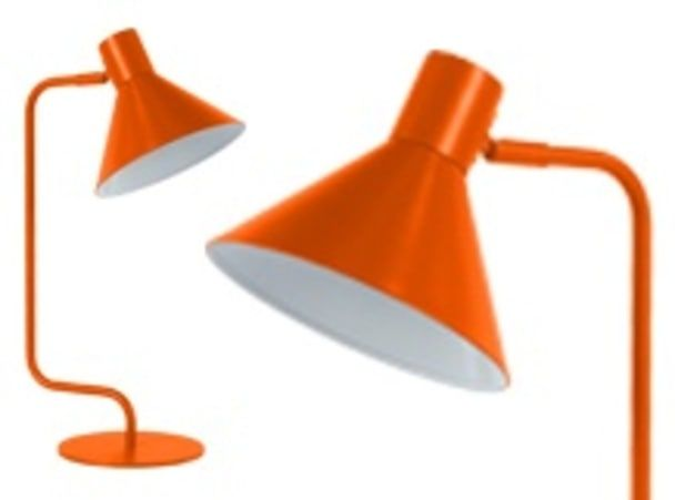 Truman, lampe de table, orange brûlé mat