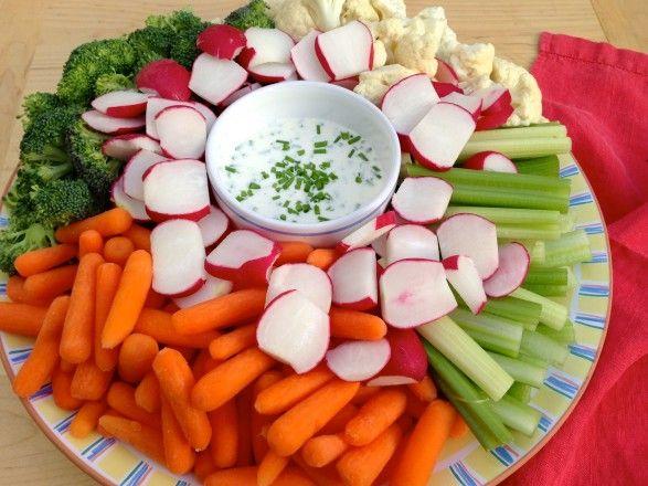 Better for you - ranch dressing using yoghurt, mayo, apple cider vinegar, chives,oil, s & p