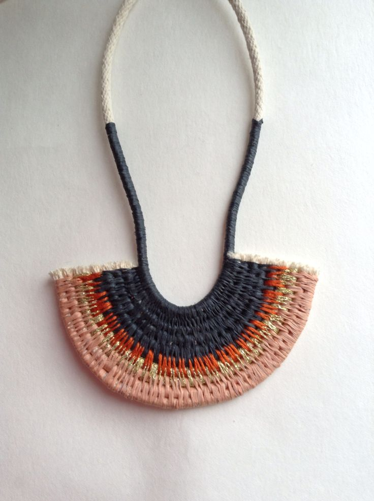 Woven rope necklace  Ouch Flower Philippa Taylor