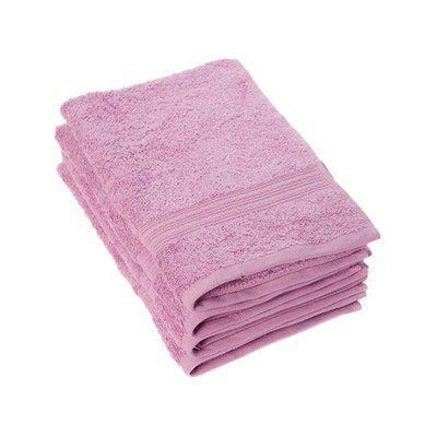 Winston Porter Peabody 4 Piece Cotton Hand Towel Set Color: Mulberry Purple