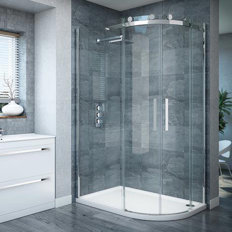 Photo Gallery On Website Nova Frameless x mm Offset Quadrant Enclosure Left or Right Option New Bathroom