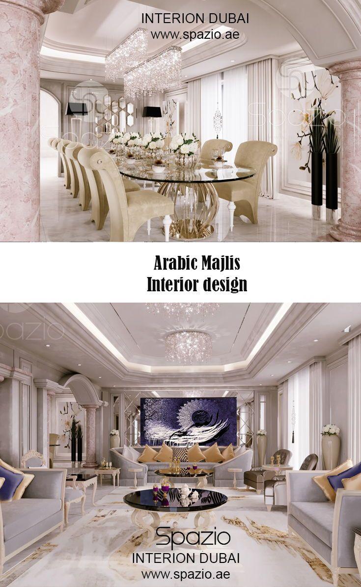Majlis Interior Design In Dubai Interior Design Dubai Interior Design Luxury Dining Room