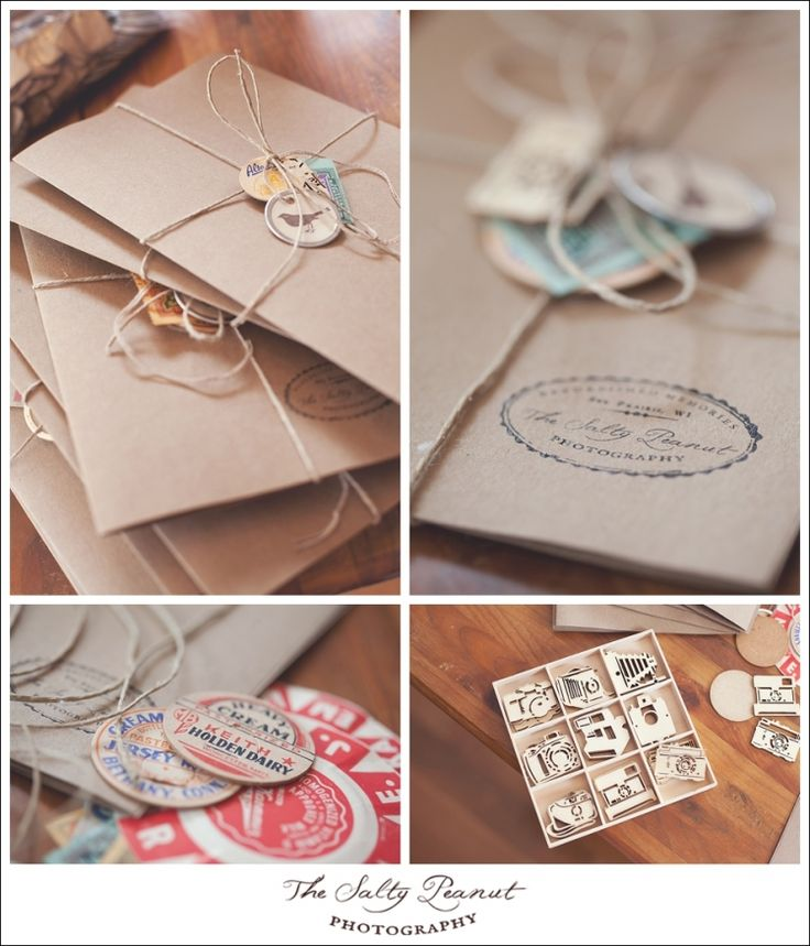 Photographer packaging (vintage inspired) The Salty Peanut Photography LLC