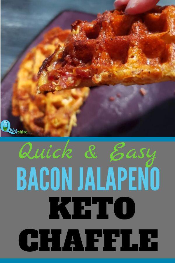 Spicy Bacon Jalapeno Keto Chaffle