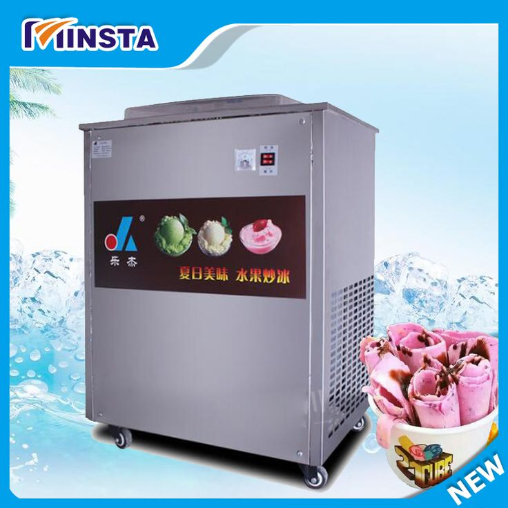 Full Stainless steel One Pan Fried ice cream roll machine pan Fry flat ice cream maker yoghourt fried ice cream machine