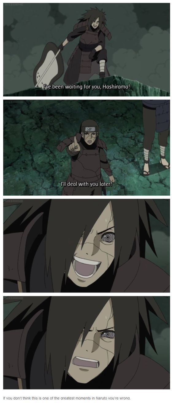 """♥ Madara & Hashirama - """"If you don't think this is one of the greatest moments in Naruto you're wrong."""""""