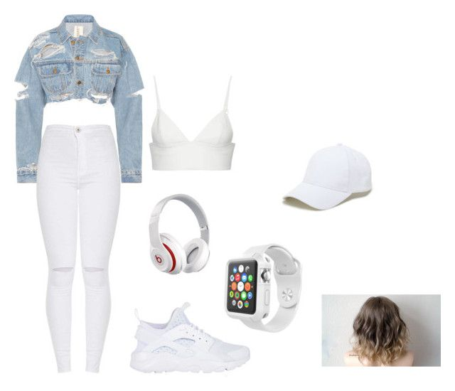 """Untitled #10"" by angeline-mewengkang on Polyvore featuring T By Alexander Wang, NIKE, Beats by Dr. Dre, Sole Society and Apple"