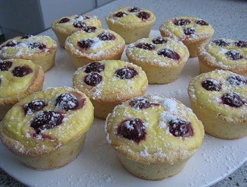 Tvarohové  muffinky.