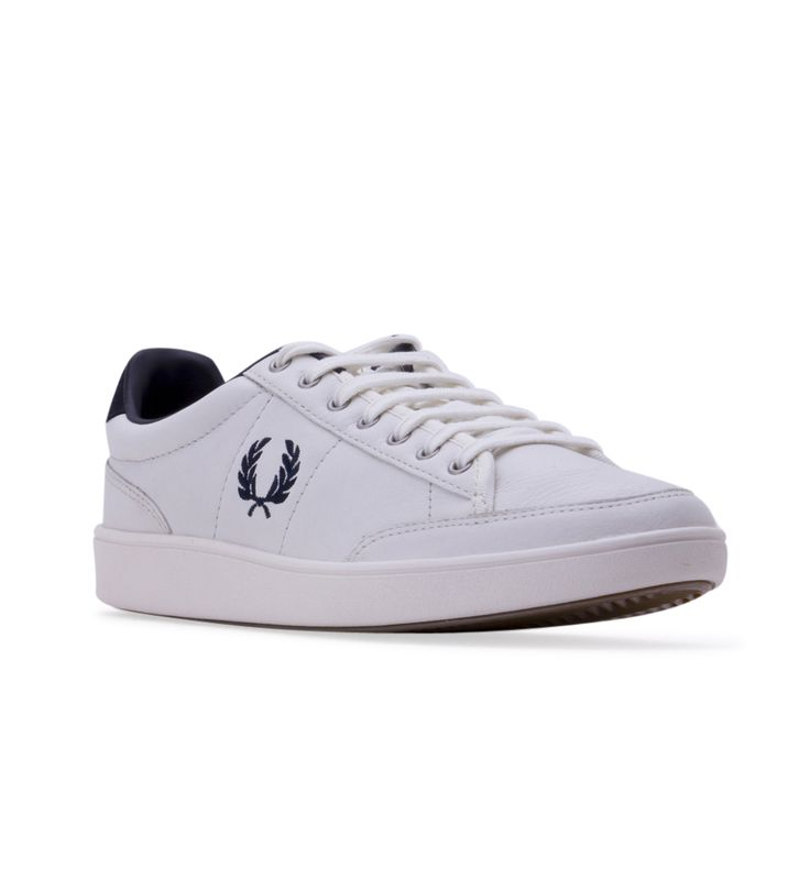 Men's Fred Perry Hopman Leather Trainers - White - All