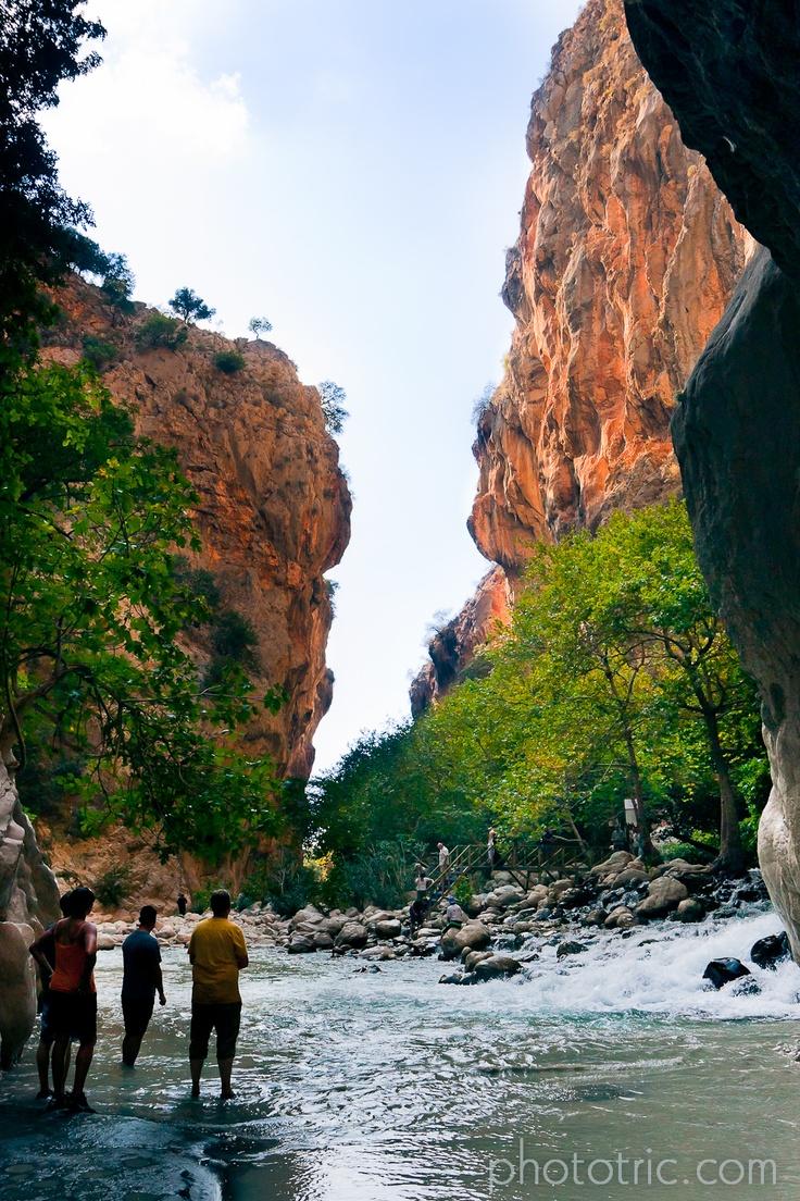 Inside the Saklikent Canion / Walking in the extremely cold water of Saklikent Gorge #turkey #saklikent #photography