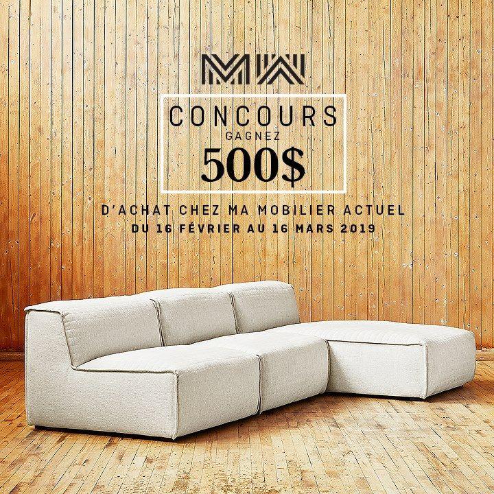 500 A Depenser Chez Ma Mobilier Actuel Avec Images Mobilier Concours Gagnant