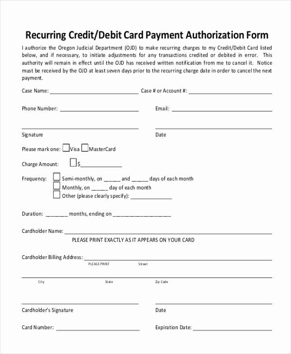 Credit Card Authorization Form Template Inspirational Authorization Form Templates Credit Card Card Template Inspirational Cards