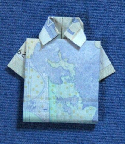 Geld Hemd – Hemd aus Geld falten