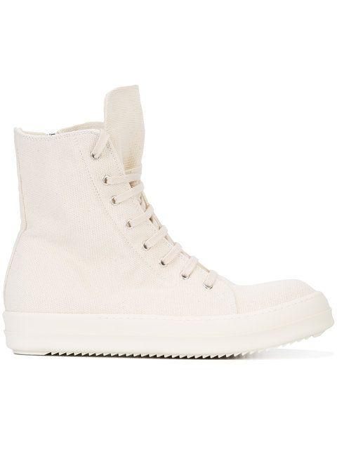 RICK OWENS DRKSHDW 'Scarpe' Vegan Hi-Top Sneakers. #rickowensdrkshdw #shoes #sneakers
